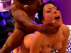 Brunette MILF Zoey Holloway Gets Interracial Sex On Pool Table