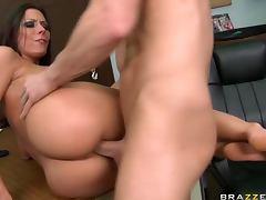 Deep Throated Brunette Pornstar Rachel Starr Gets Fucked and Facialized