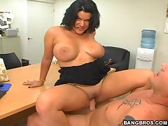 Nasty Angelina opens her legs wide and enjoys this fuck
