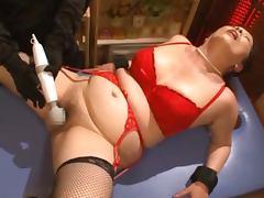Fat Japanese mature lady Chizuru Iwasaki gets balled