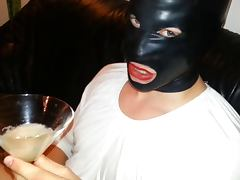 Cum Filled Condom 10 Cumshot Semen Bukkake Mask Latex