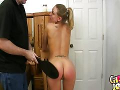 Spanked wife gets her ass red