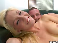 Emily Kae sucks a cock devotedly and enjoys riding it in cowgirl position