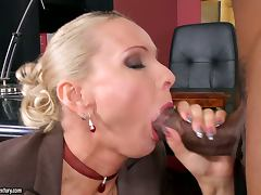 An Interracial Double Penetration Intra Office Affair with Blonde Winnie