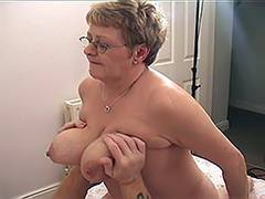 Blonde Russian Mature VS Younger Guy 5