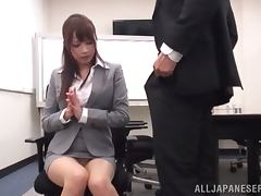 Asuka Shiratori gets stunningly fucked in an office