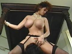 Busty vintage bitch blows and gets her pussy fucked remarcably well