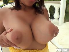 Busty bitch Dynamite gets unforgettably fucked in the yard