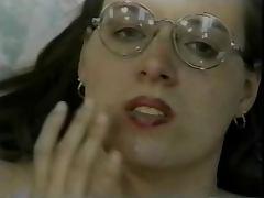 Hairy Twatted Nerd Casey Gets Cream In Her Cunt
