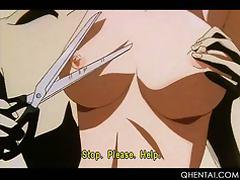 Hentai slut in huge boobs gets tortured hard in BDSM video