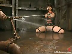 Big breasted Ava Devine gets tortured in water bondage video