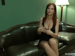 Syren De Mer the hot MILF gets tied up and pounded