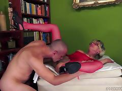 A crazy cock loving granny loves being pummeled
