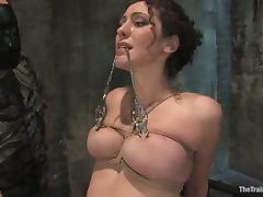Gorgeous and slender honey is enjoys that cock in pain