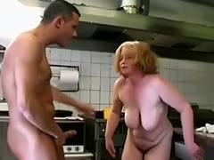 granny fast food fucking