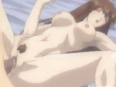 Anime whore moans loudly while getting her snatch drilled deep and hard