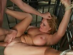 Hot Kryssy Lynn gets handcuffed and fucked in a prison