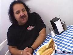 Sammie teamed with Queeny to fuck Ron Jeremy