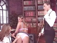 Head Mistress Celeste Star Seduces Two School Girls