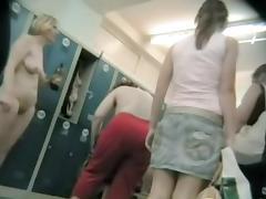 Cutie in changing room impressing with hidden cam nudity