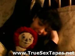Cute amateur housewife makes a homemade sex tape