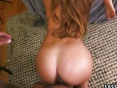Booty babes in FFM threesome