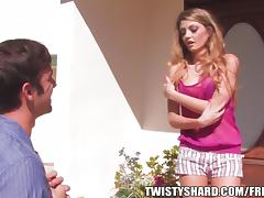 Skinny young pubescent Staci Silverstone gets split by a stone-blind cock