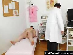 Matured cunny examined by the Gynecologist