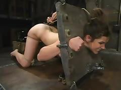 Sizzling Bobbi Starr gets bondaged around an increment of gagged around a huge cock
