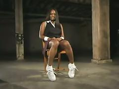 Nice bondage vibrations for a sassy ebony babe Jada Fire