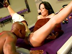 Zoey Holloway gets her snatch fingered and smashed by a black stud