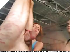 Upside Down Ball Busting