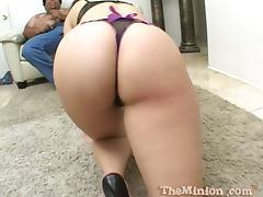 Adorable Dillan Ryder gives a blowjob to a small cock guy