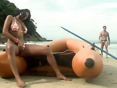 Smoldering Hot Babe Gets Fucked Hardcore on the Beach