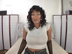 Curvy black milf Africa Sexxx takes an ardent ride on a white dick