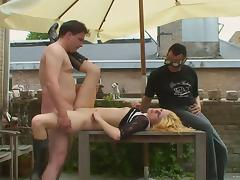 Steamy Blonde Goes Hardcore With A Chubby Dude In Front Of Her Cuckold