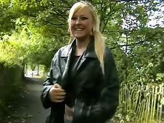 Geordie Lass Lena fingering outside 3