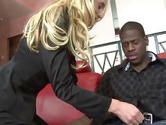 Anal sex in interracial sex for the slutty blonde Kelly Wells