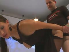 Nasty whore Viktoria covered with lots of cum