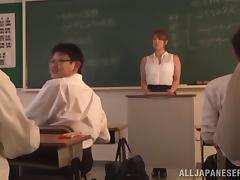 Naughty Japanese Teacher Takes Her Home Work For Fucking