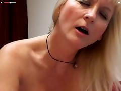 Hot Granny Playing with her dildo on Cam