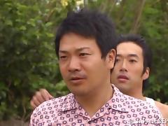 Superb Reiko Kobayakawa has sex on the beach