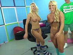 Britney Amber and Cali Carter are perfect tanned blondes in fuck threesome